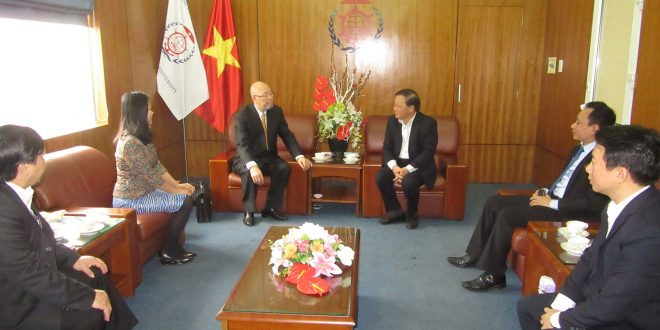 Ban lãnh đạo ATI làm việc với trường Đại học hàng hải Việt Nam